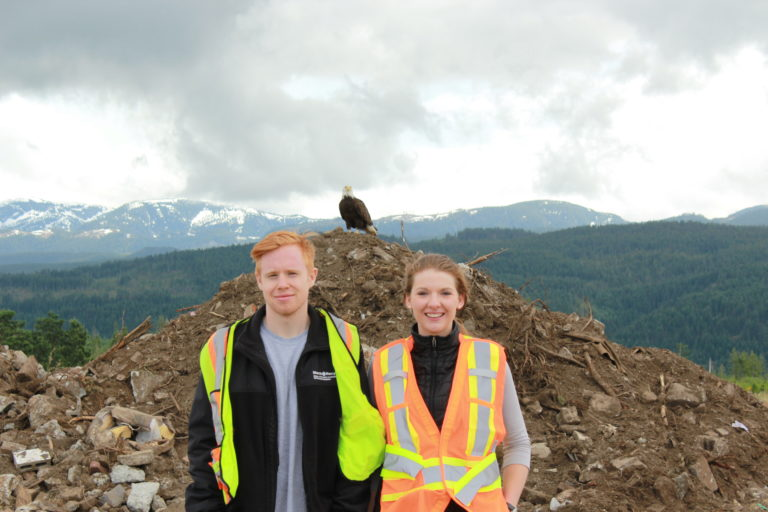 ElectroRecycle summer ambassador at the Comox Valley landfill