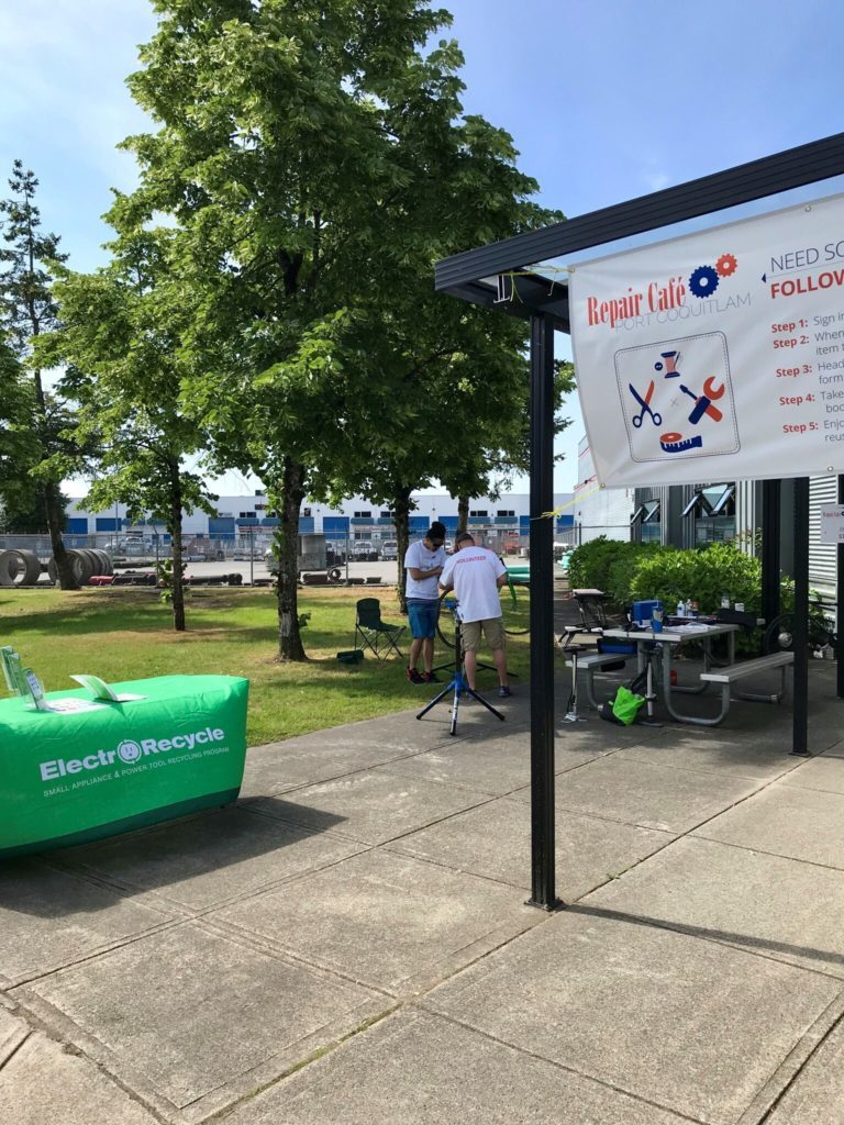 Port Coquitlam Repair Cafe and ElectroRecycle working together
