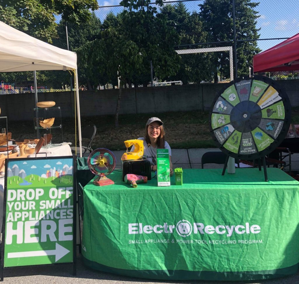 summer ambassador at the ElectroRecycle booth