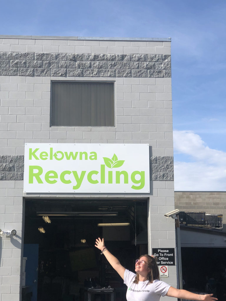 ElectroRecycle at the Kelowna Recycling depot