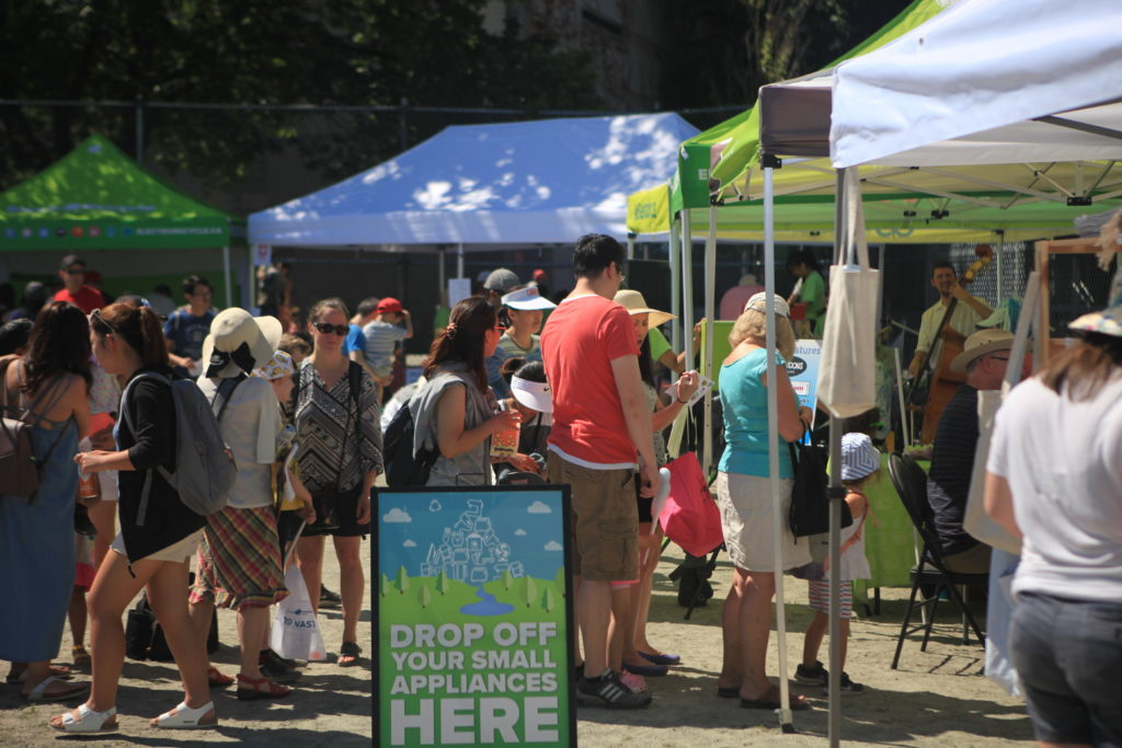 Crowds at RecycleFest in Trout Lake Park, 2018