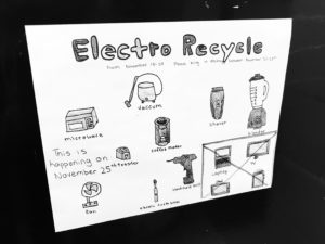 Drawing for ElectroRecycle school challenge in BC