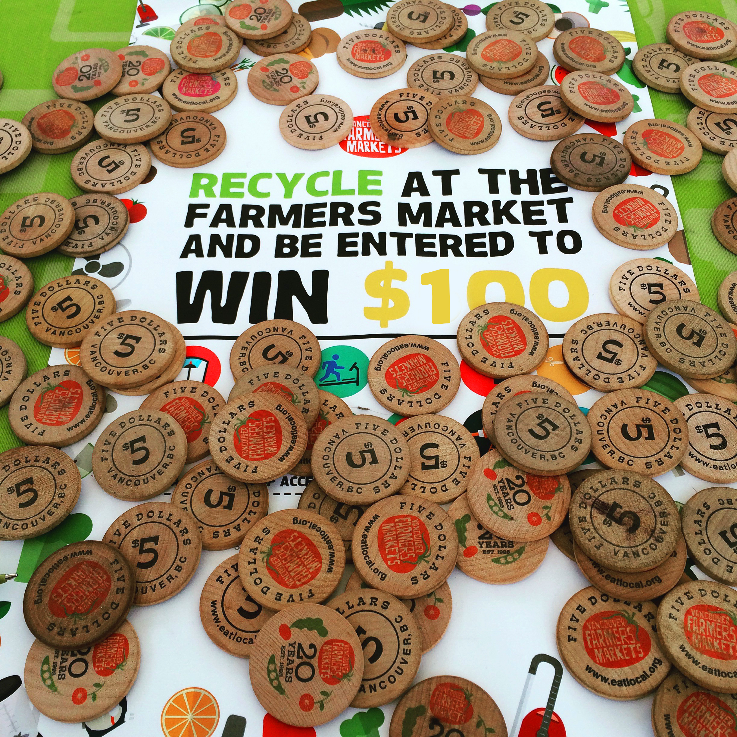 Recycle at the Vancouver farmers market and be entered to win $100 market dollars