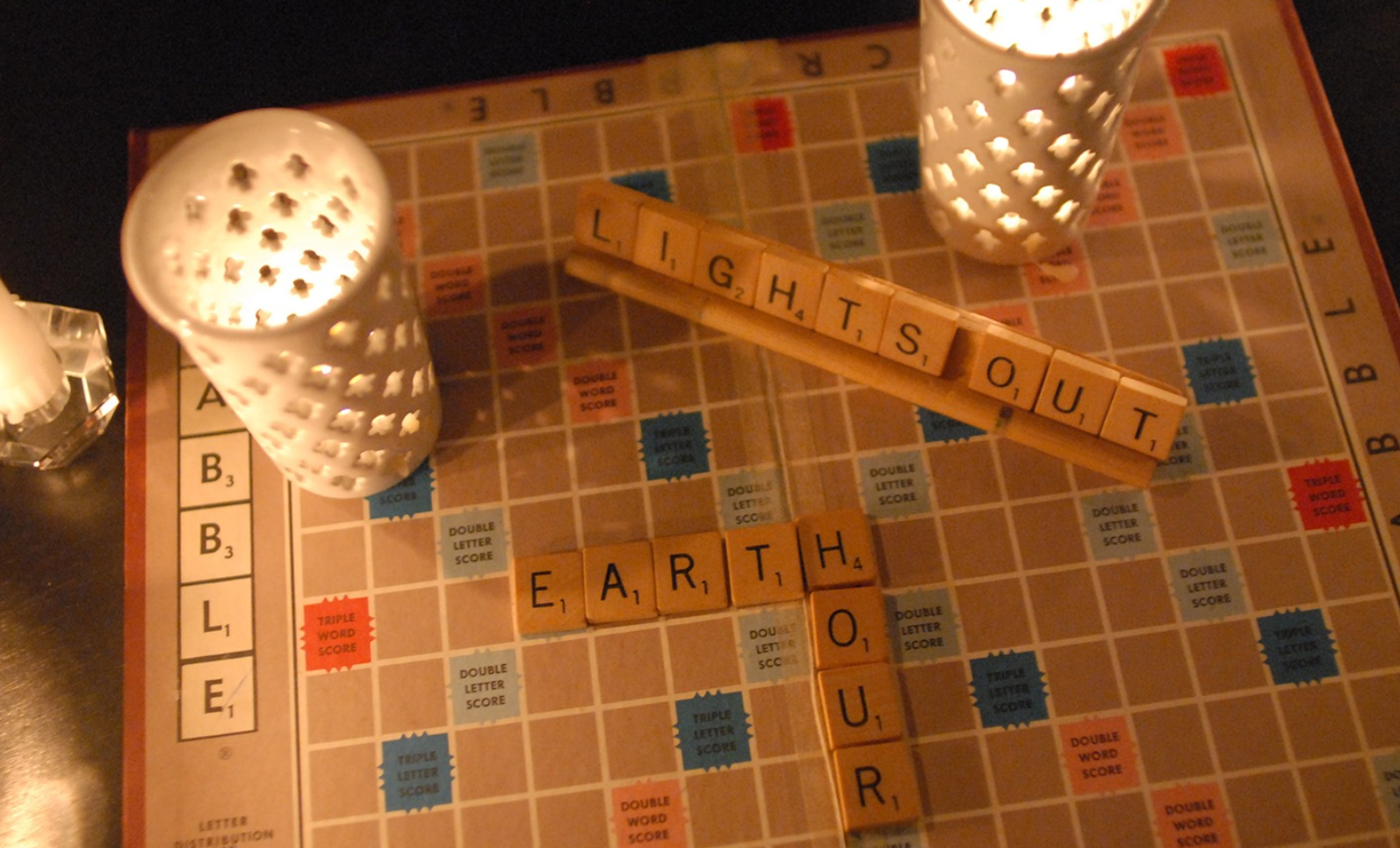 Earth Hour - lights out scrabble party