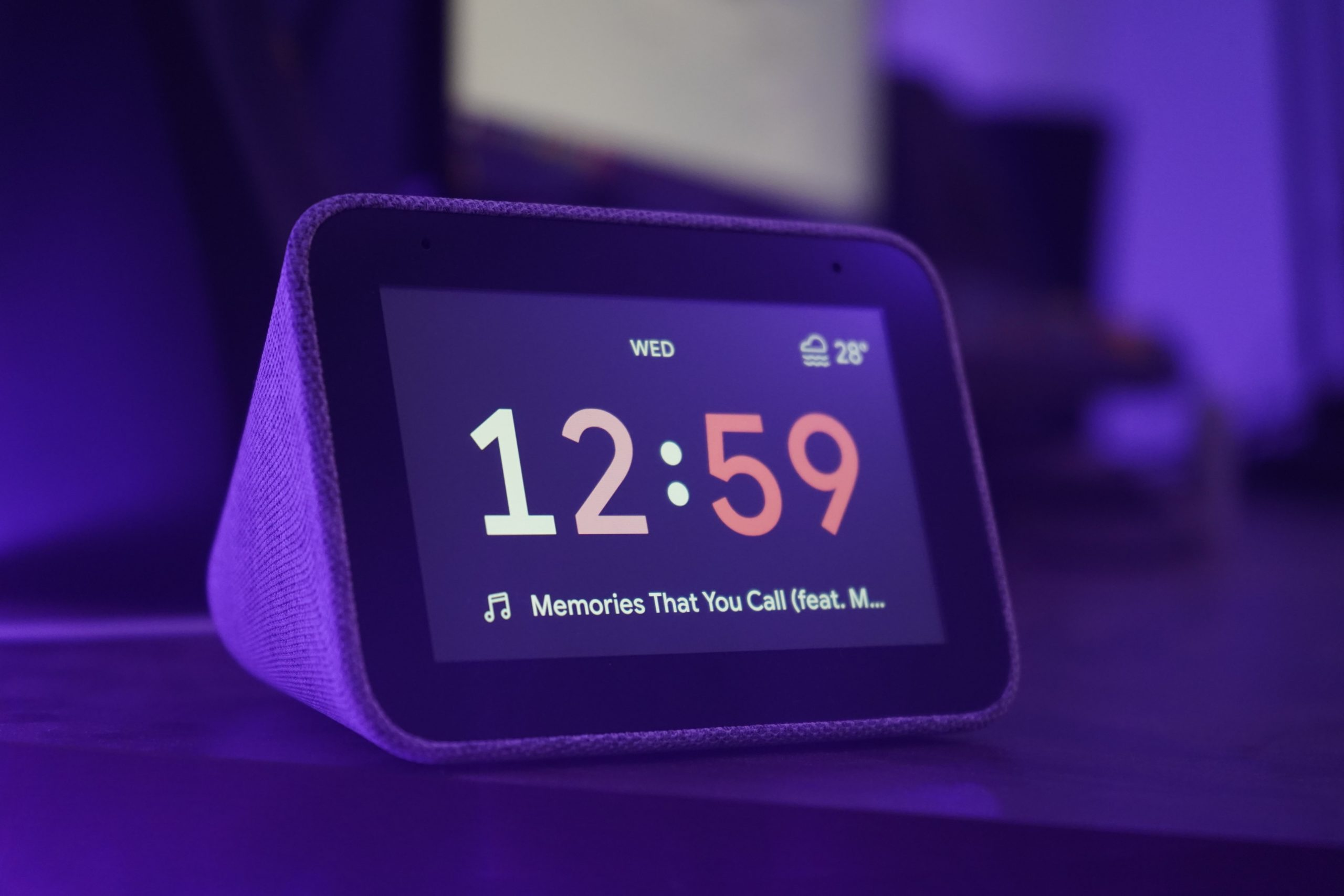 digital alarm clock to illustrate spring forward and spring cleaning