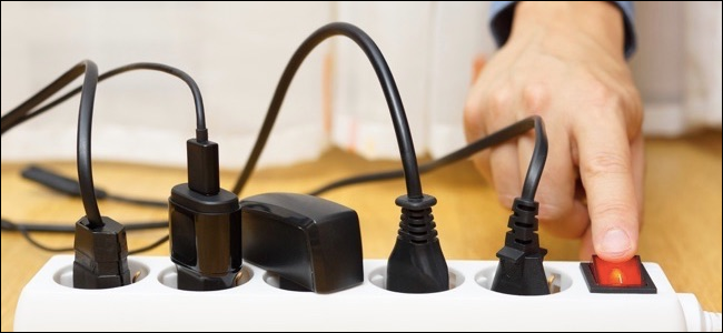 Save energy with a power strip