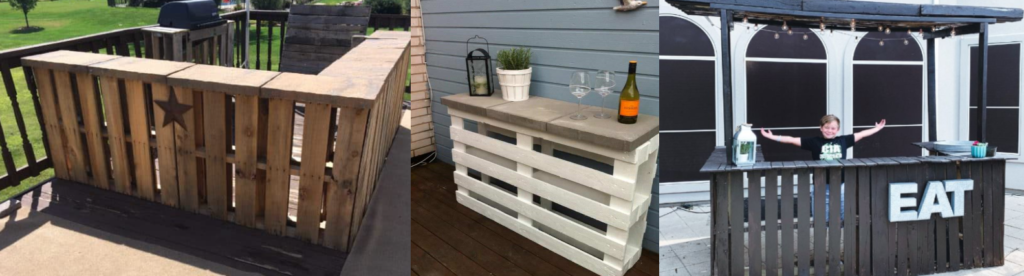 3 upcycled pallet bar gift ideas for Dad