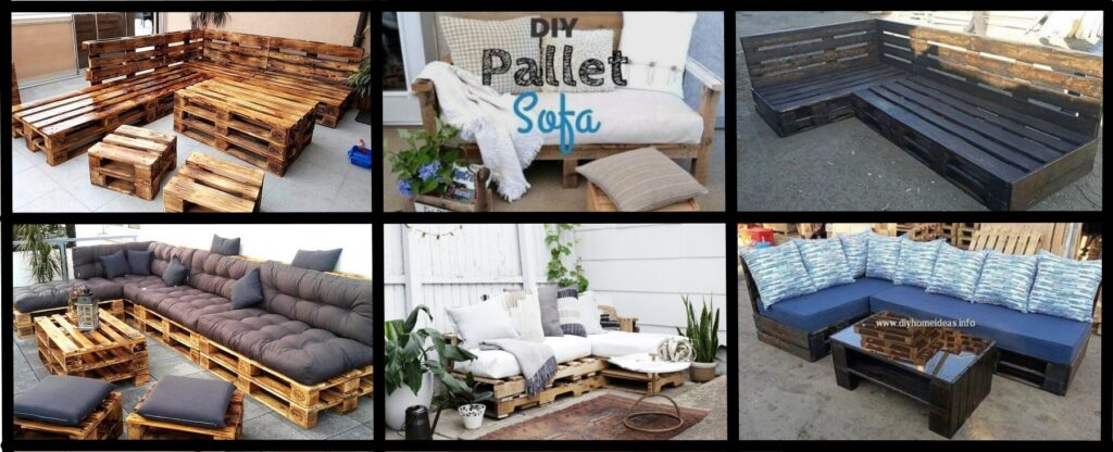 Upcycled pallet sofa gift ideas for Dad