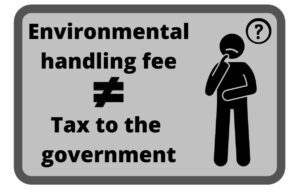 ElectroRecycle's EHF is not a tax to the government