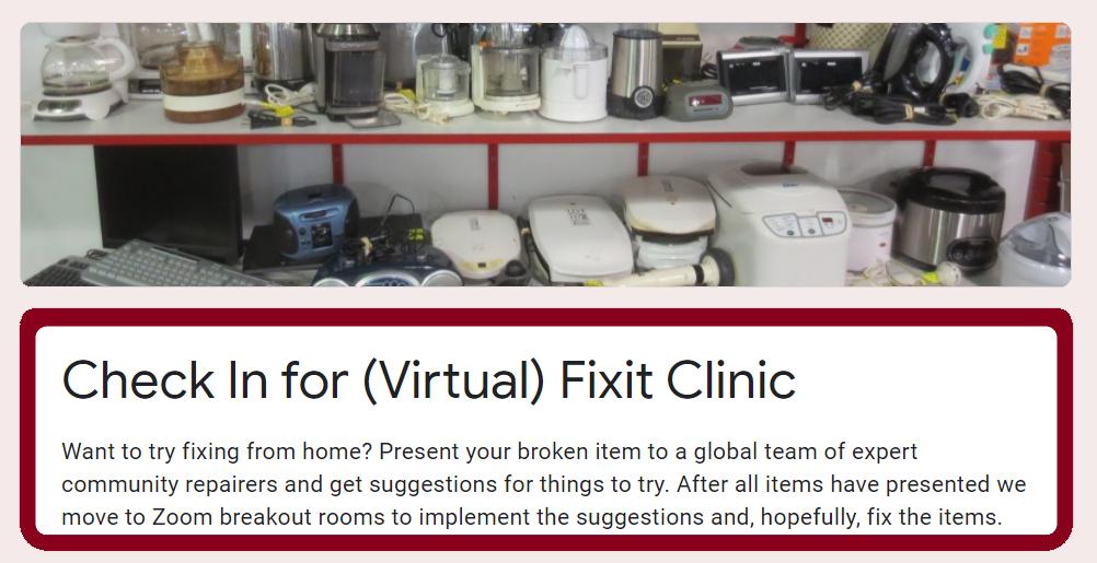 Virtual Repair Clinic website